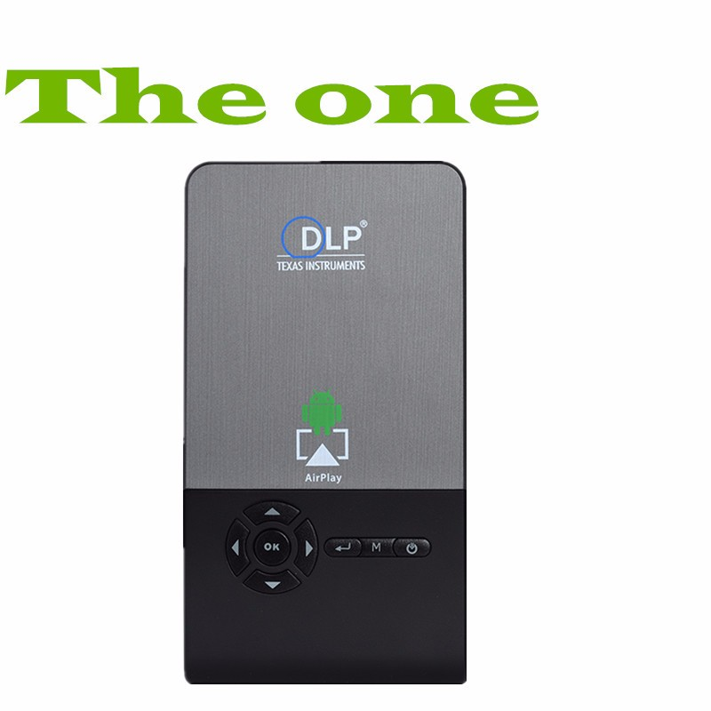 DLP Projector 1000LM 854 x 480 Pixels Android 4.4 WiFi Bluetooth 4.0 Mini Smart Audio Video Player