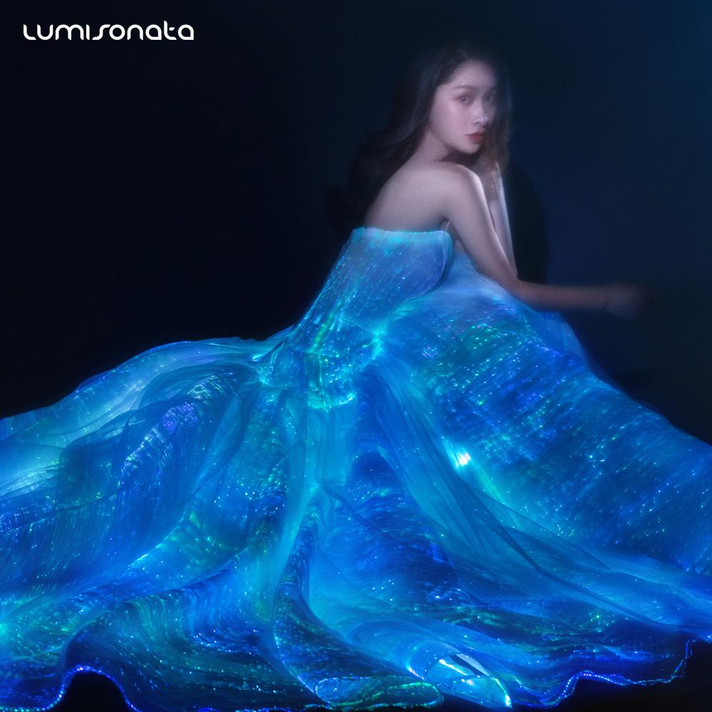 b55c5cc0340 2017 nouvelle mode led éclairage robe lumineux de mariage robes ...