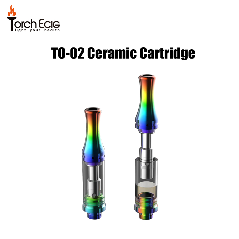 New Products 2018 CBD Oil Cartridge 510 Glass Thick Oil Cartridge Ceramic Heating Coil Glass Tank Atomizer