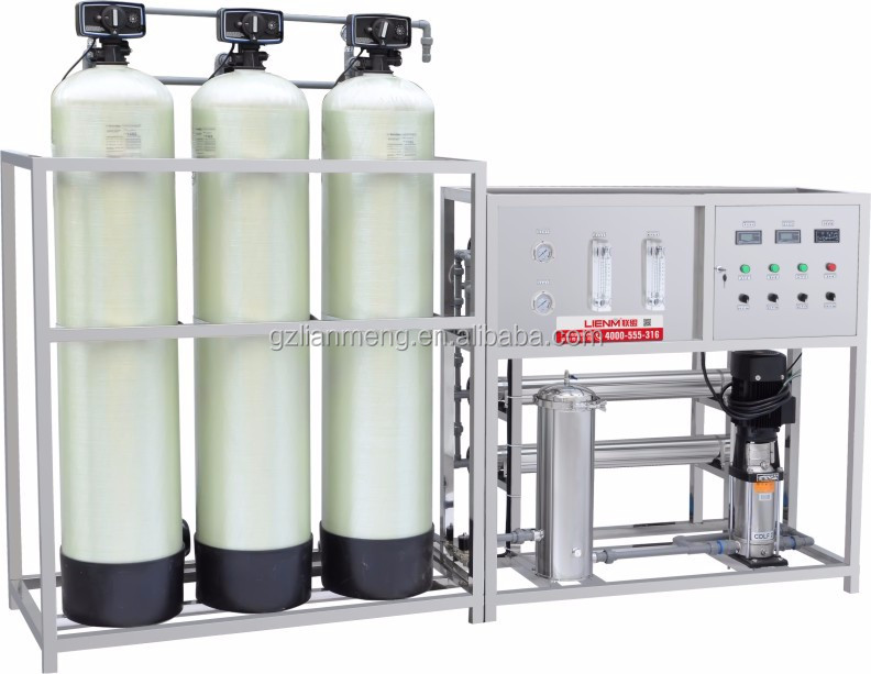 LM-RO-A Automatic glass fiber one stage reverse osmosis water treatment with soft filter