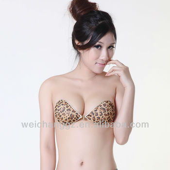 35ea7cd075b01 Leopardo sujetador sin tirantes sexy camisón sexi caliente imagen Lencería  moda