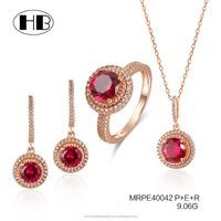 alibaba wholesale ruby weeding jewelry set brazilian gold jewelry wholesale china