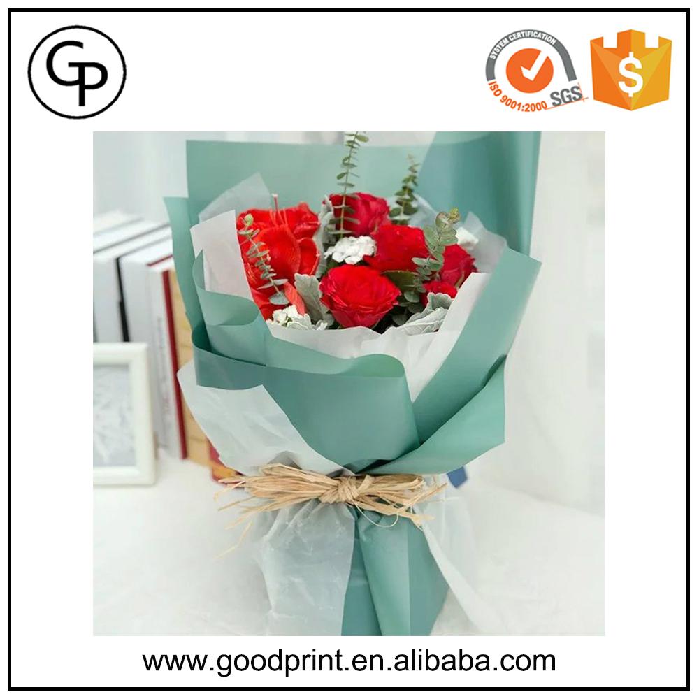 Colorful Florist Waterproof Wrapping Paper For Flowerwaterproof