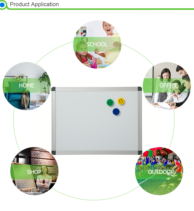 MOQ=100pcs wall-mounted non-trace installation magnetic whiteboard price