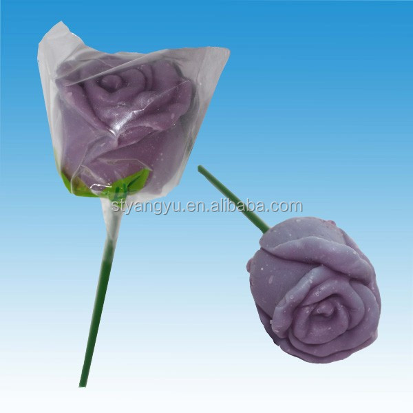 Halal Noble Purple Rose Giant Lollipop Candy