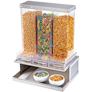 Retail stores custom acrylic food dispenser for stackable food