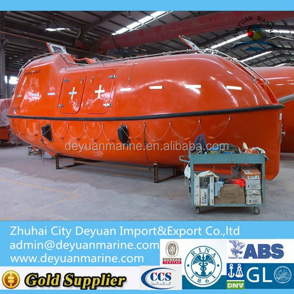 Manufacturer Totally Enclosed Fiberglass Lifeboat For Sale