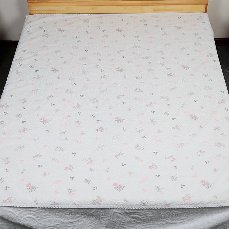 Top selling cost saving quilted Yarndyed polyester seersucker flat sheet