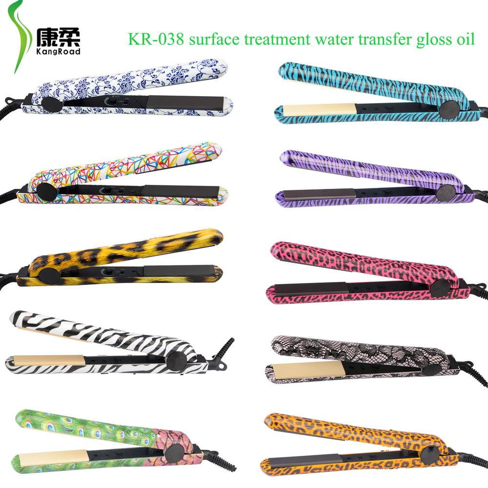 "Customize Hair Straightener Classic Ceramic Flat Iron with 1.25"" Plates"
