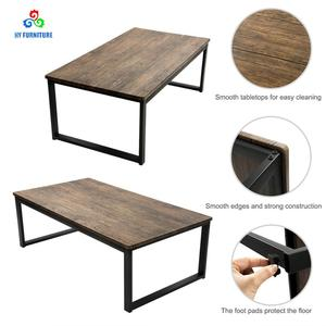 Modern steel and wooden coffee table restoration hardware furniture