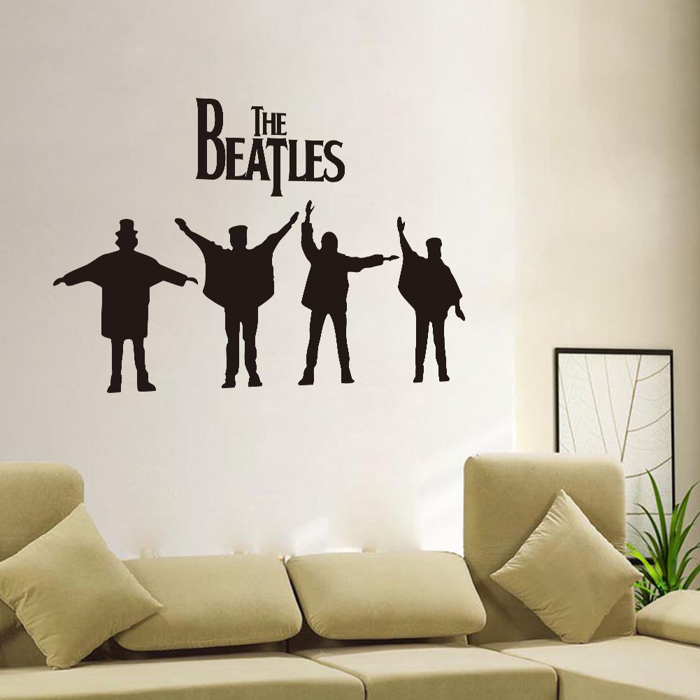 The Beatles Removable Original 45 120 Wall Sticker Home Decor For