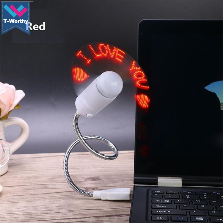 New USB 2.0 Colorful LED Flexible Gooseneck USB Desk Mini Fan