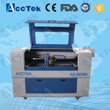Acctek metal and nonmetal laser heads co2 laser acrylic engraving cutting machine