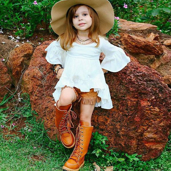 PHB10202 hot sale fashion kids girls western dresses names photos