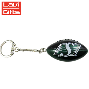 Funny Custom Mini Soft Reliever Toys Shape Rugby Ball America Footballs Keychain