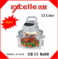 12L Digital low price deluxe multifunction portable halogen convection oven