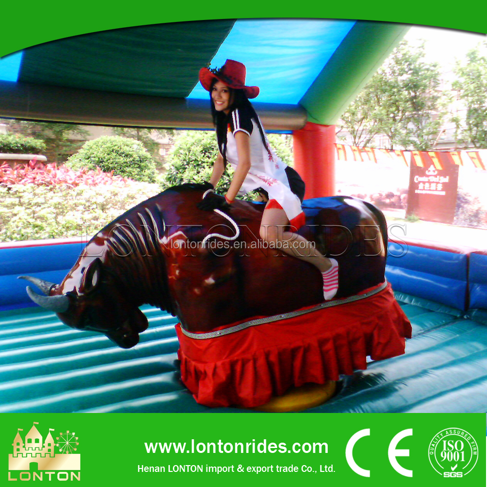 Indoor Play Game Rides Inflatable Rodeo Bull Simulator For Sale