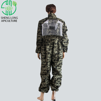 Apiculture White Suits Ventilated Camouflage Jacket Beekeeping Suit For Protecting From Wasp Bee Protective Clothing Beekeeper