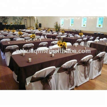 225 & polyester chair cover wedding tablecloth and table cover View polyester chair covers with pleats HUAQIN Product Details from Nantong Huaqin Textile ...
