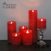 Matti's Red Pillar Wedding Candle/Luxury Candle/Wax Candle