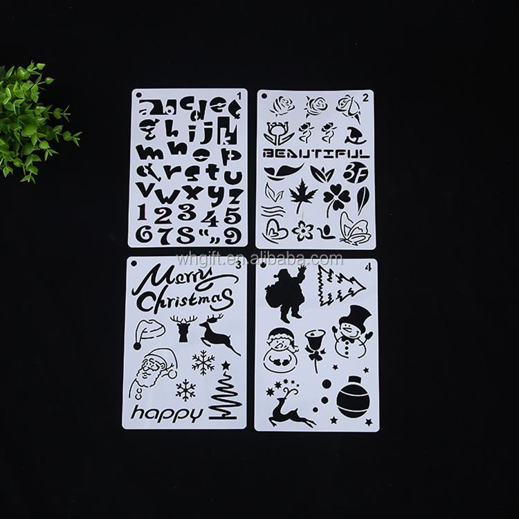 Трафареты дети маленький Алфавит Письмо рисунок шаблоны DIY детские развивающие игрушечные лошадки пластик живопись доски