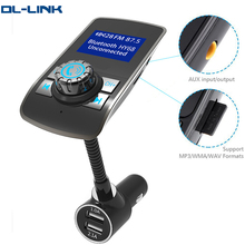 HY68 1.44 Inch Display wireless in-car handsfree adapter car kit mp3 audio player fm transmitter