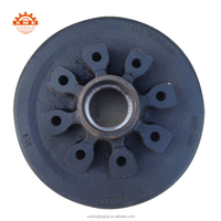"12"" trailer brake drum with 8 bolts"