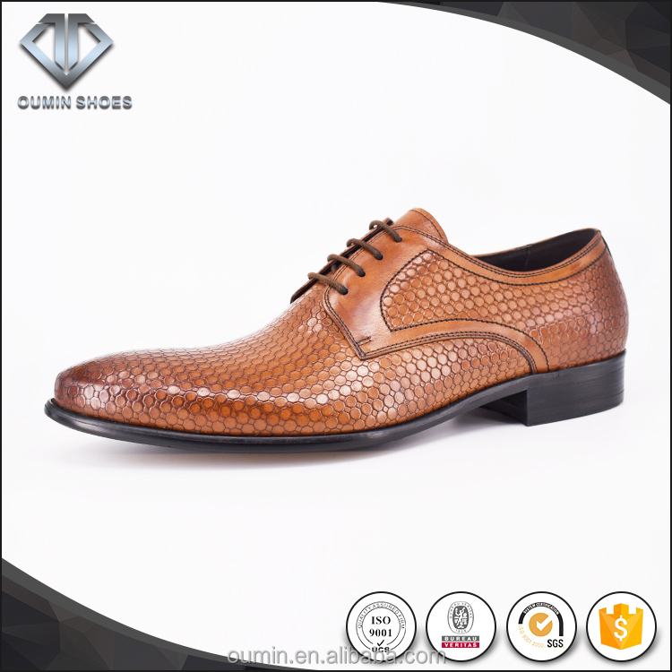 Popular genuine leather Italy style men dress shoes cow leather