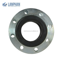 wear resistant double sphere flanged flexible rubber joint
