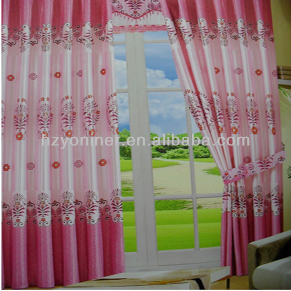 Wholesale light-proof colorful print blackout curtain fabric, fabric textile with high quality