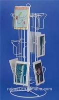 metal customized four-tier shop standing rattan magazine rack