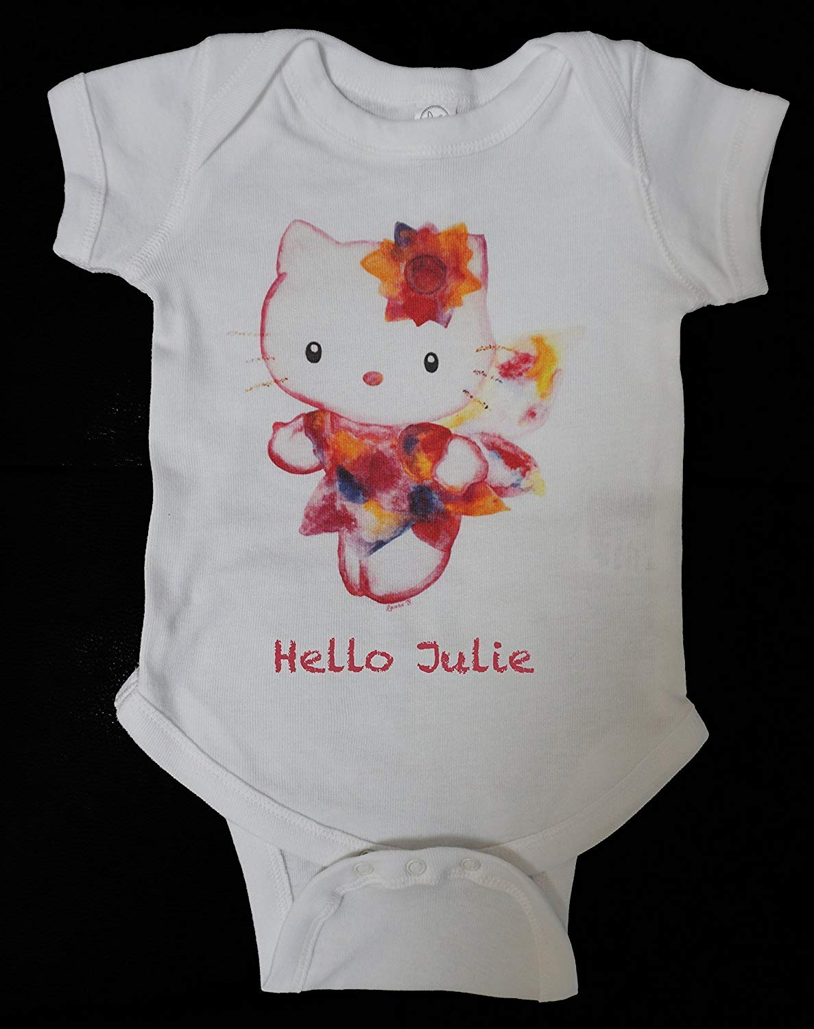 5d58ad648 Get Quotations · Personalized Hello Kitty onesie. Designed and printed in  California! Original Baby bodysuit/baby