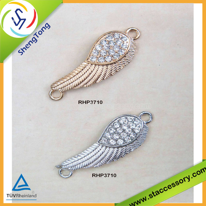 Wholesales wing pendant, crystal panedant, Crystal Connector charm or pendant