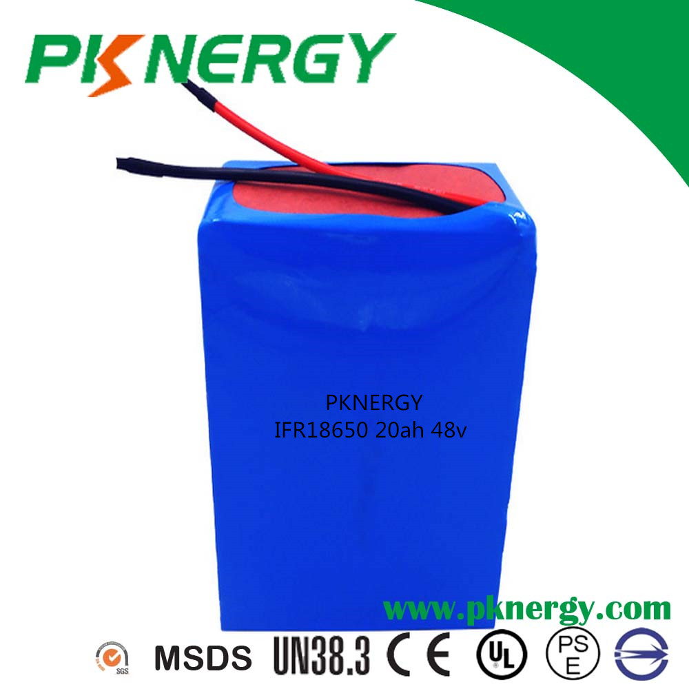 High energy IFR18650 batteries 48v 20ah lithium ion lifepo4 battery pack for electric bike