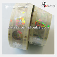 Cheap sell hologram hot stamp sticker,washing label