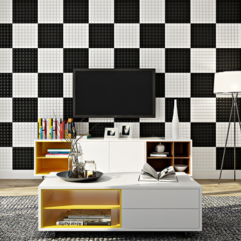 creative 3d mosaic wall stickers creative self-adhesive wallpaper