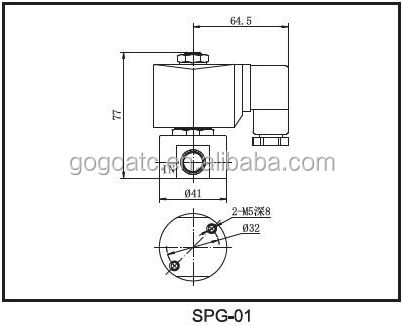 SPG-02 stainless steel 1/4 100bar 2mm DC24V high pressure co2 solenoid valve
