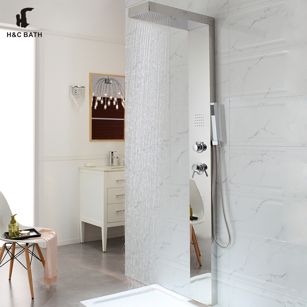 Hydro Bath Products Factory Luxury Durable Cheap Shower Panel With Jets