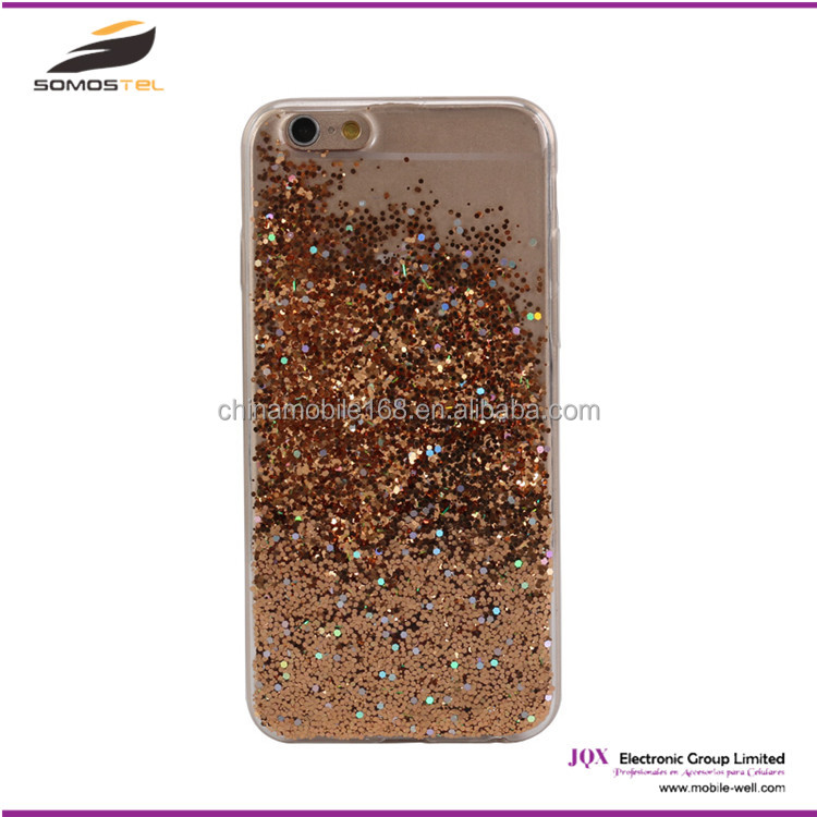 [somostel] wholesale cheap mobile phone aluminium liquid glitter for iphone case for sony xperia glitter case