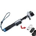 HR251-BU TMC Fold Extendable Retractable Handheld Remote Pole Monopod With