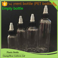 PET Plastic Unicorn Bottles With Black Twist Off Caps 30ml 60ml 100ml 120ml Vape Liquid Pen Shape For E Cig Juice