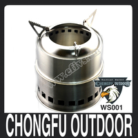 Hot new products for 2016 Portable Lightweight Stainless steel Picnic BBQ Camping Wood Burning Stove with Alcohol plate