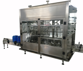 MIC - ZF4 4 nozzles weighing type full automatic paint bucket filler and oil filling machine