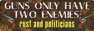 International Wholesale Gifts 017-1408 Guns Have 2 Enemies