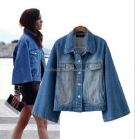 Z51675B European fashion jeans blazer women denim short jackets