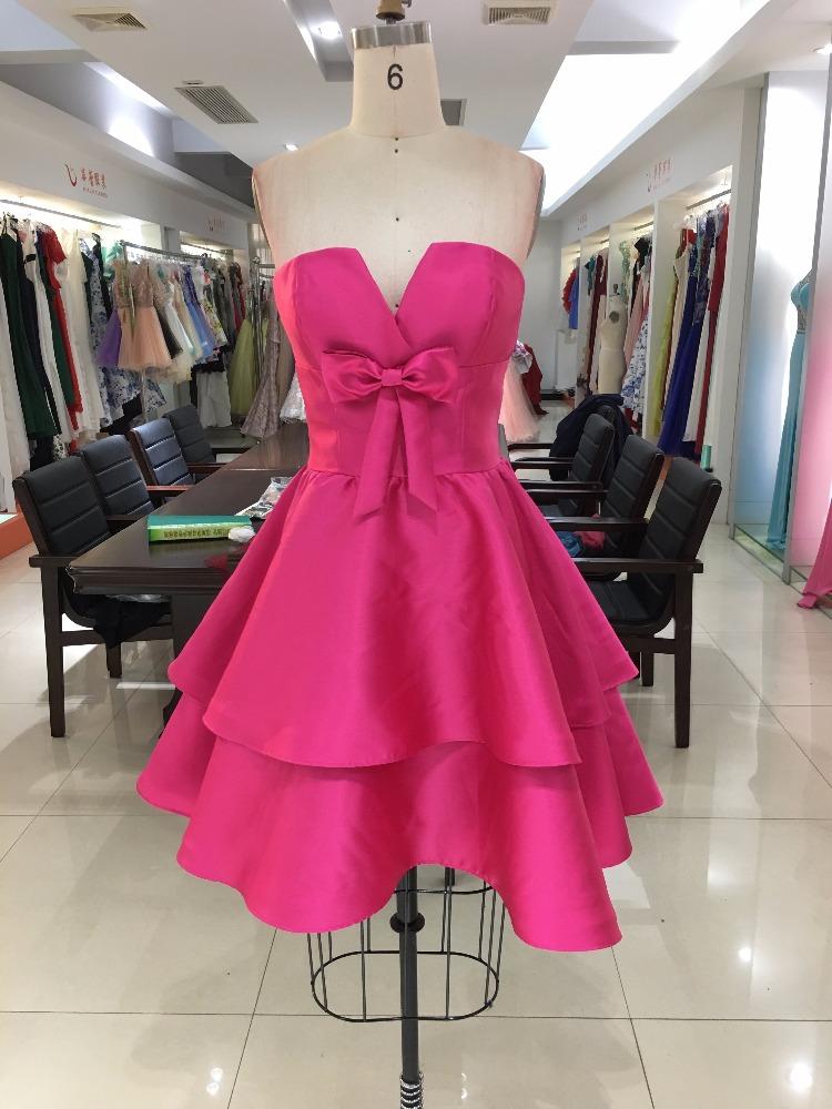 Diseño Simple Corto Cóctel Vestidos Para Niñas De 18 Años Mujeres Vestidos De Fiesta