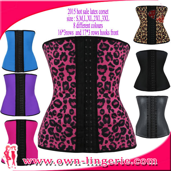 latex waist cincher,plus size waist training corset,latex waist