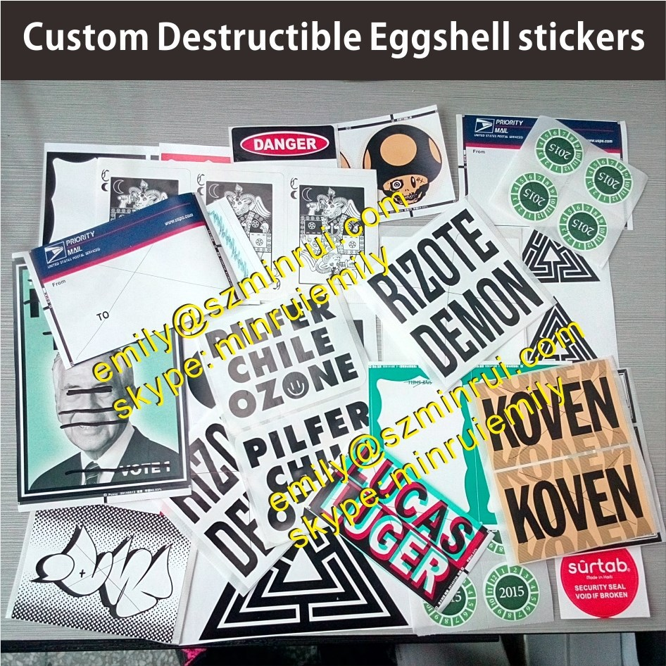 Custom graffiti art screen printing eggshell stickers photo vinyl eggshell stickers eggshell stickers custom variety designs