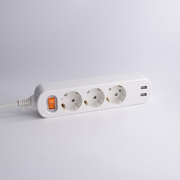 Europe and Korea market Extension socket with usb / power strip with usb port