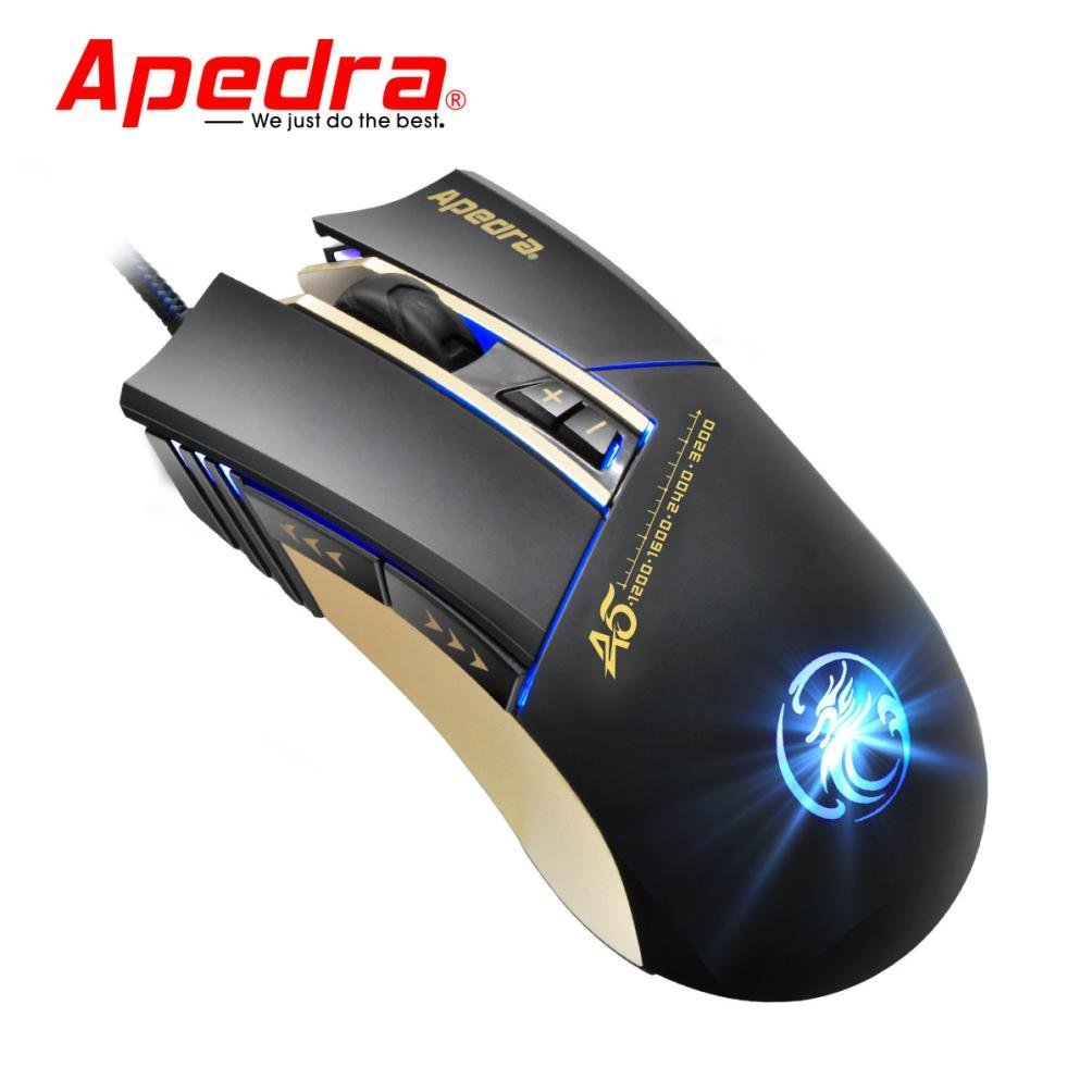 Cywulin 3200DPI LED Optical 6D USB Wired Gaming Game Mouse for PC,Laptop, Notebook, Desktop, Tablet